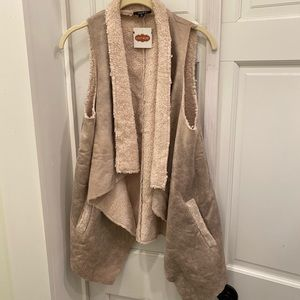 NWT Shearling Vest